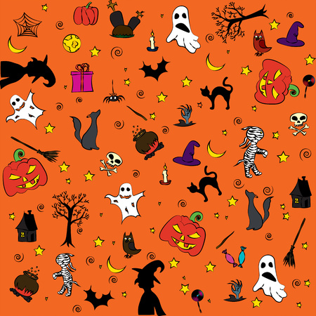 Drawing on a theme of a holiday Halloween