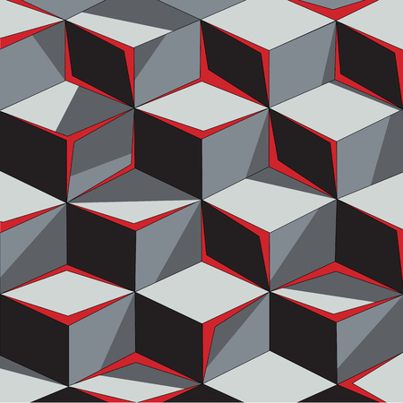 Wallpaper volumetric cubes