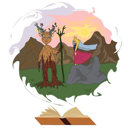 The forest god and the enchanted princess.