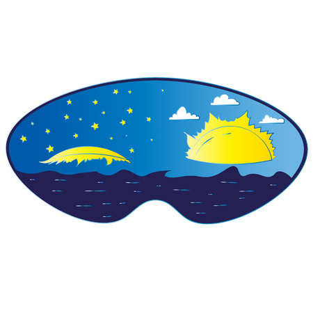 Sleep mask. A sweet dream and a joyful awakening Ilustração