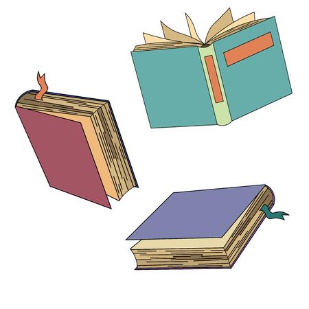 Book collection vector image. Иллюстрация
