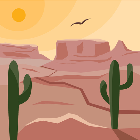 A hot landscape of the American prairies