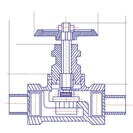 Free fantasy drawing of a refrigerating machine Illustration