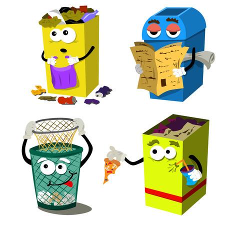 Conteneurs à ordures pour la propreté de l'environnement.
