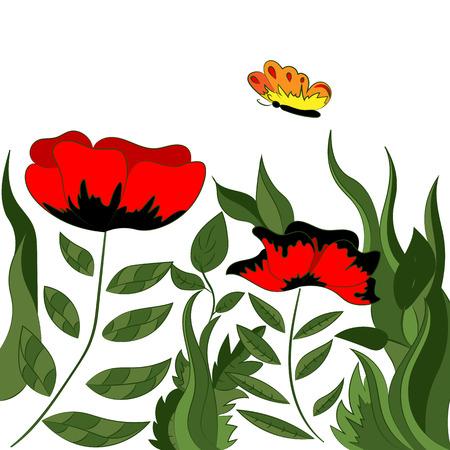 A bright magical poppy field. Fabulous wallpaper.