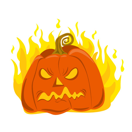 Angry and scary vector pumpkin for Halloween