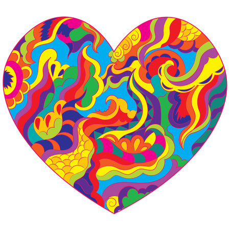 Abstract heart to the day of Saint Valentine. Declaration of love