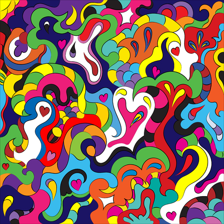 Abstract heart to the day of Saint Valentine. Declaration of love. Illustration
