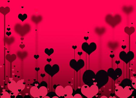 rosa negra: rosa corazones negros Foto de archivo