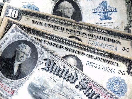 Old banknotes of the USA photo