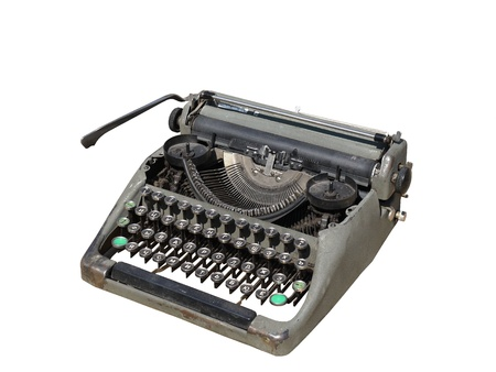 Photo old typewriter isolated on white background  photo