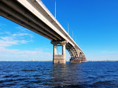 Photo of the bridge between the cities of Saratov and Engels