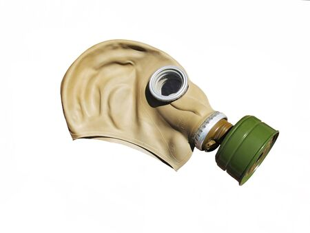 Photo of gas mask isolated on white background