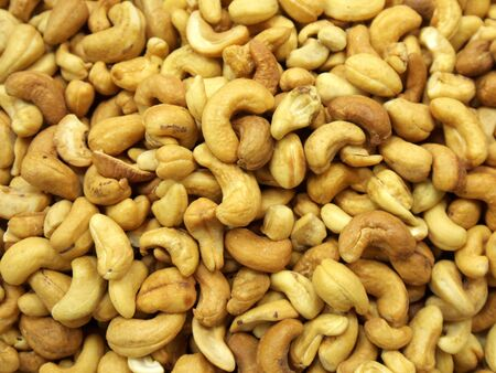 The photo of many peeled cashew nuts Stok Fotoğraf