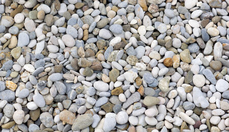 Colourful mixture of stones and pebbles in different sizes and shapes Stock Photo
