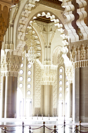 Interiors of the Mosque of Hassan II in Casablanca, Morocco