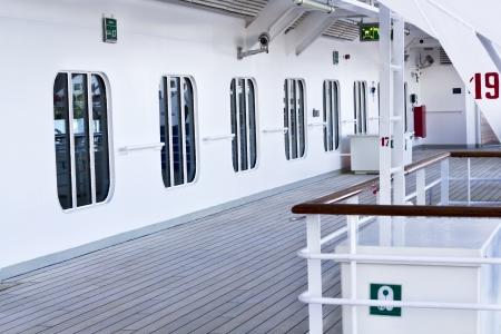 ship deck: White deck on a cruise ship.