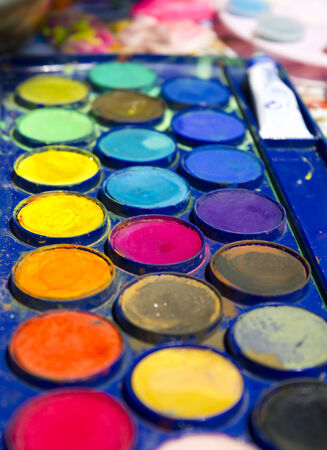 colorful watercolor paints for painting