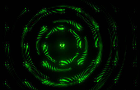 Green Glowing Abstract image Stock Photo