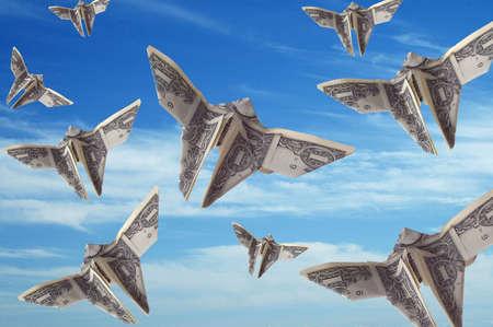 moola: A sky full of dollar bills shaped like butterflies.