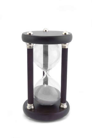 anachronistic: An hour glass isolated on a white background.