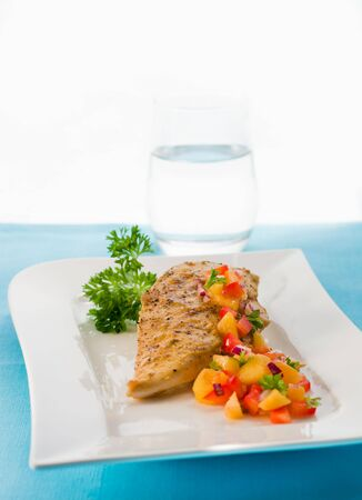 chicken breast with mango salsa Stock Photo - 6531518