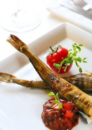 chutney: pescado al horno con chutney de tomate
