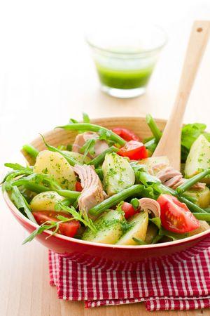 potato and tuna salad  with pesto dressing Stock Photo - 6874115