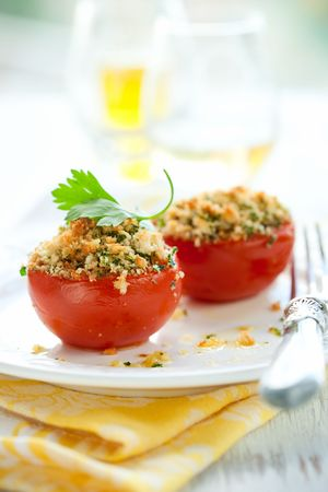 provencal: provencal style baked tomatoes