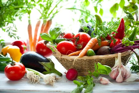 vegetable: Different fresh vegetables on the table