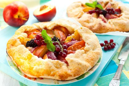 peach galette with blackberry and red currant Stock Photo - 7519647