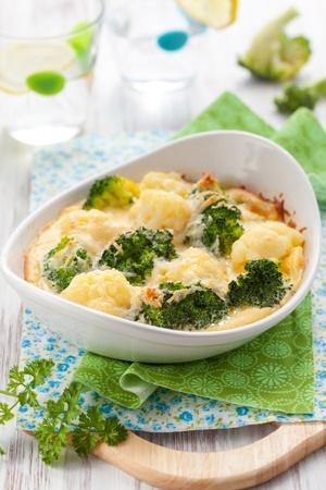 coliflor: br�coli y coliflor gratinado con queso