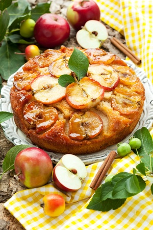 apple tart: Apple Upside Down Cake