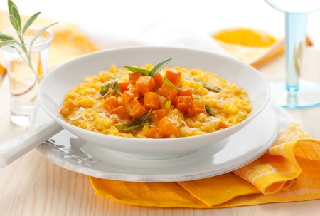 squash: pumpkin risotto with sage