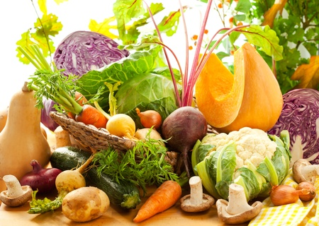Still life with autumn vegetables Stock Photo