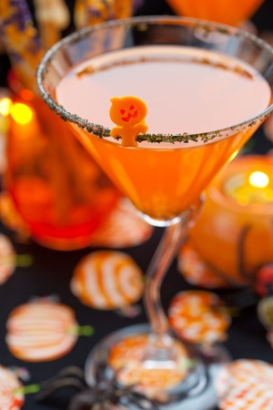 Halloween drinks and snack photo