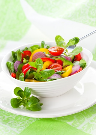 fresh salad with vegetables photo
