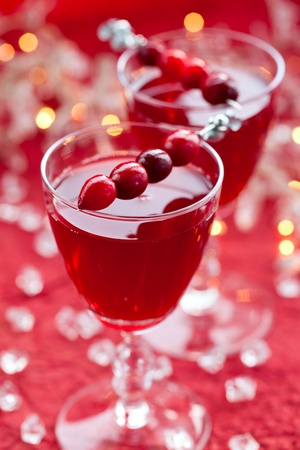 cranberry drink for Christmas photo