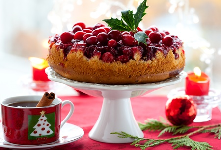 fruitcake: Cranberry Upside Down Cake for Christmas