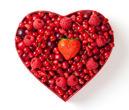 cranberry: Red berries for Valentines Day