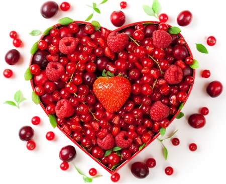 Red berries for Valentines Day