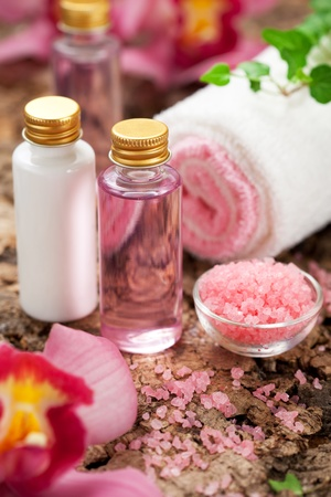 lotions: body care products or spa still life
