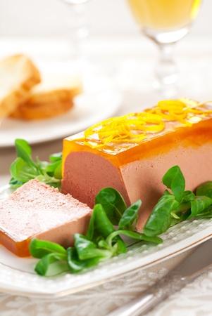 higado de pollo: Paté de hígado de pollo con naranja gelatina de vacaciones