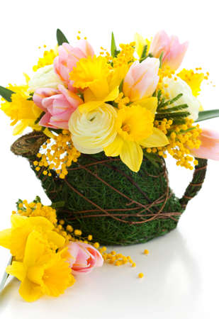 bouquet of spring flowers for Easter photo