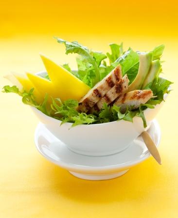 chicken salad: Chicken  salad with avocado and mango