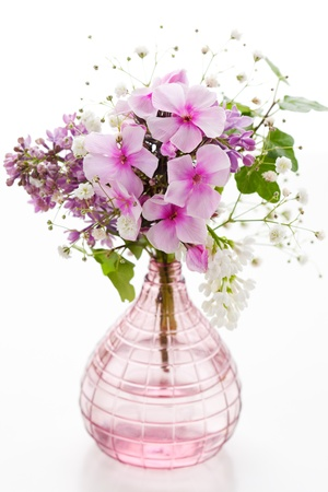 beautiful spring flowers in a vase photo