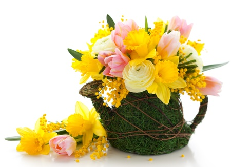 bouquet of spring flowers for Easter Stock Photo - 12809629