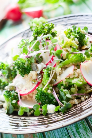 Broccoli, radish and feta salad with quinoa Stock Photo - 13855466