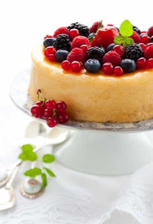 Cheesecake With Mixed Berries photo