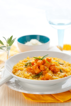 pumpkin risotto with sage photo
